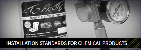 Installation standards for chemical products